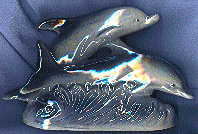dolphin ornament, front view