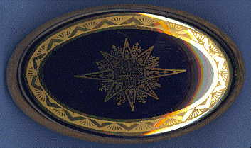 Limoges oval trinket box: view from top